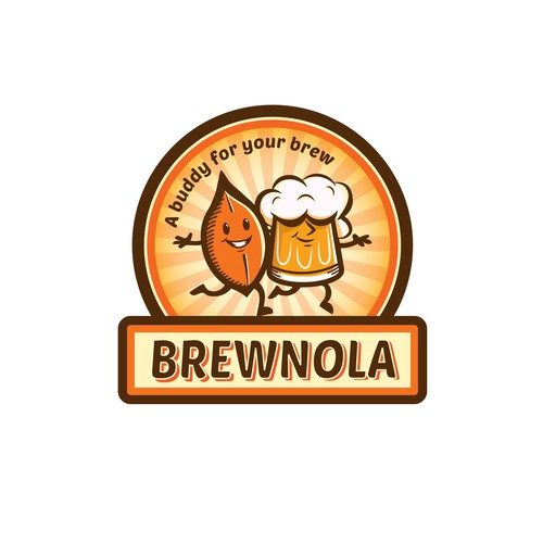 Fun and friendly logo for a beer snack company