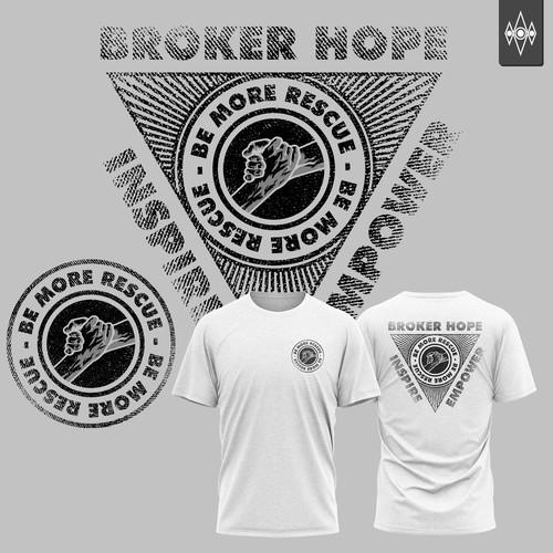 Shirt design illustration for BE MORE RESCUE