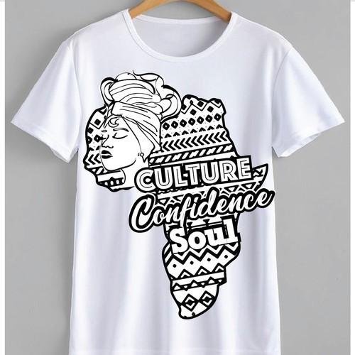 Africa Inspired T-Shirt Design for Women