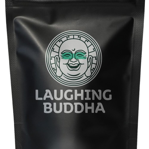 Fun and lighthearted logo for Laughing Buddha