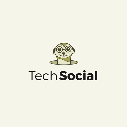 nerdy meerkat icon for tech social