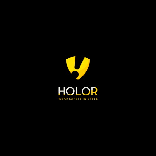 Design logo for Holor a stylish wearable personal safety device