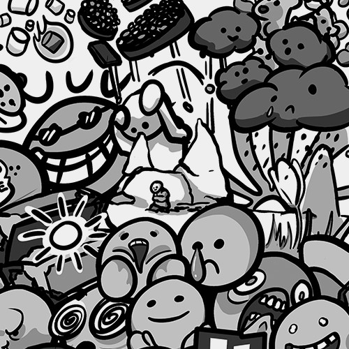 Doodles - Cover Design [Black & White]