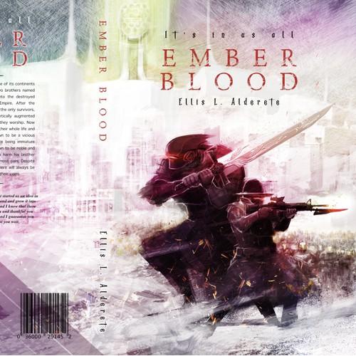 Winning design for a Sci-Fi novel cover