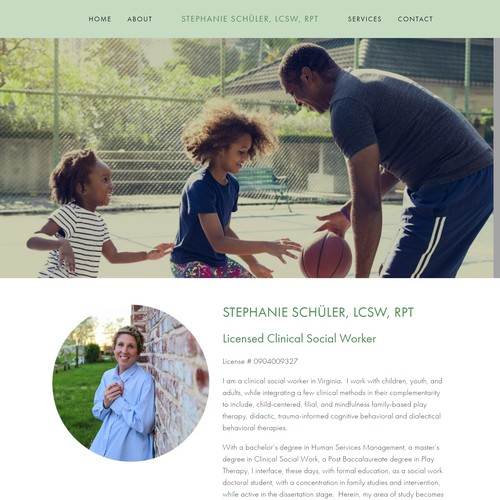 Website Design For Stephanie Schuler, LCSW, RPT