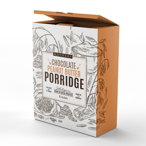 Porridge Cereal box design