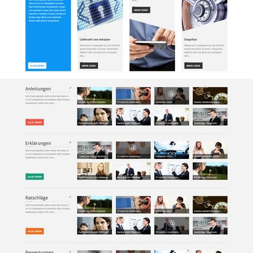 HQ reponsive Front Page (English Description)