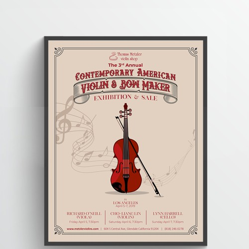 Classic poster for a high end Violin Shop
