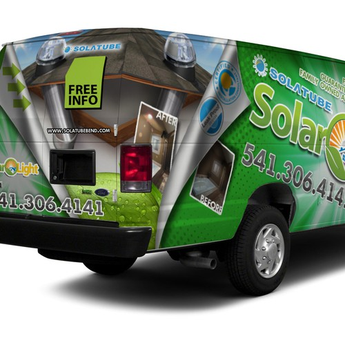 Create a Visual Van Wrap for Solar Light