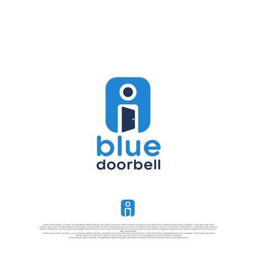 Blue door bell