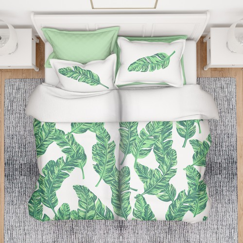 Sophisticated bedding design with a playful edge