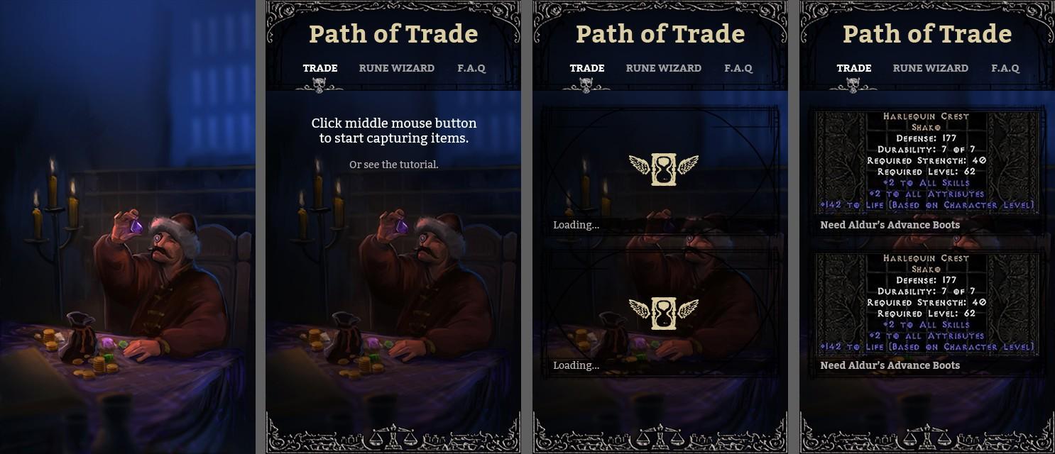 UI Design for Diablo 2 app