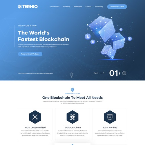 B2B Block Chain Company Website design
