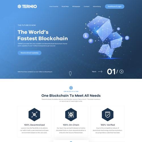 B2B Block Chain Company Website design