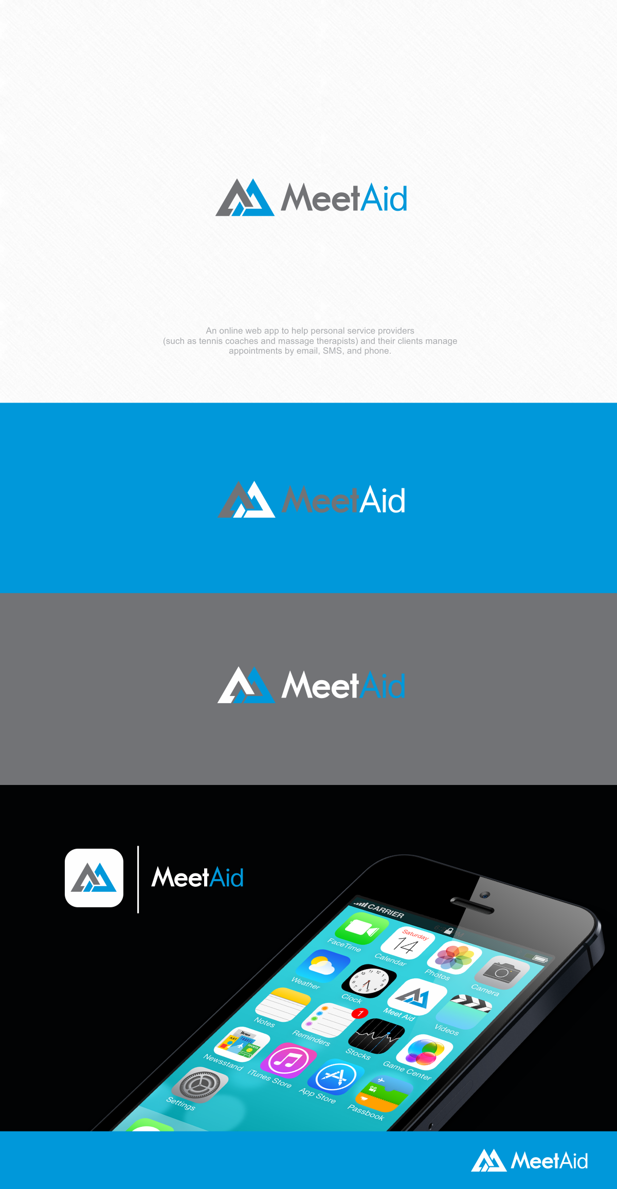 Design web app logo for startup helping people communicate about personal appointments
