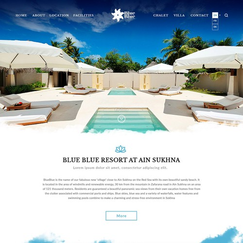 Blue Resort Website