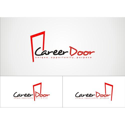 winner logo concept for career door