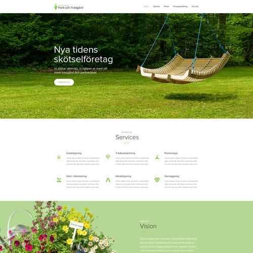 Uber for Landscaping, create the future landing page for us!