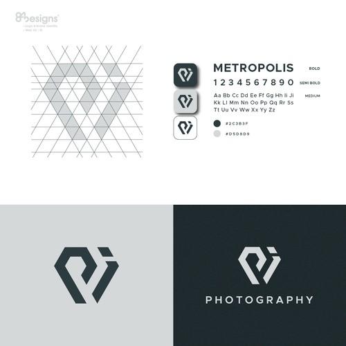 PI or PJ diamond monogram