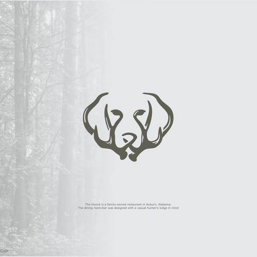 Clever antler logo for a lodge