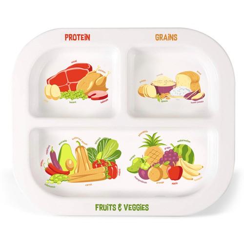 children plate illustration