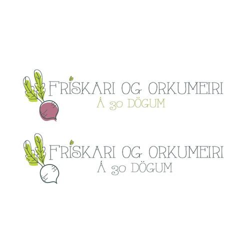 Logo Option for health food program