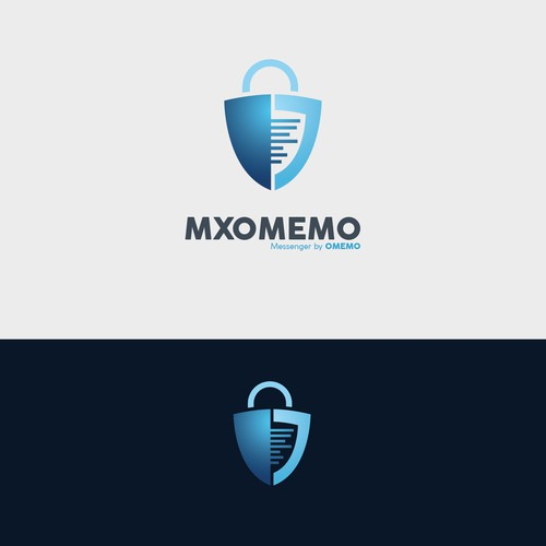 Logo concept for mobile secure chat app