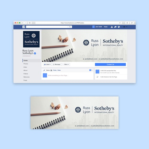 Simple FB business cover