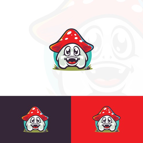 Mushroom Cute Monster Logo