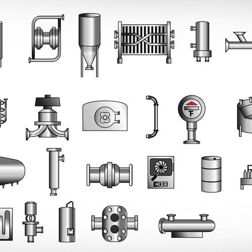 Create the icon designs for Anderson Instrument Company