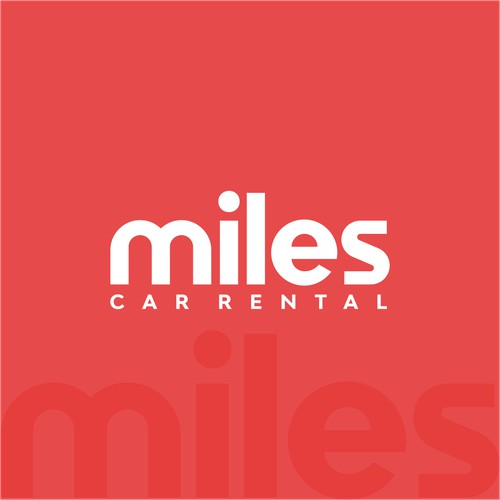 custom wordmark logo for miles