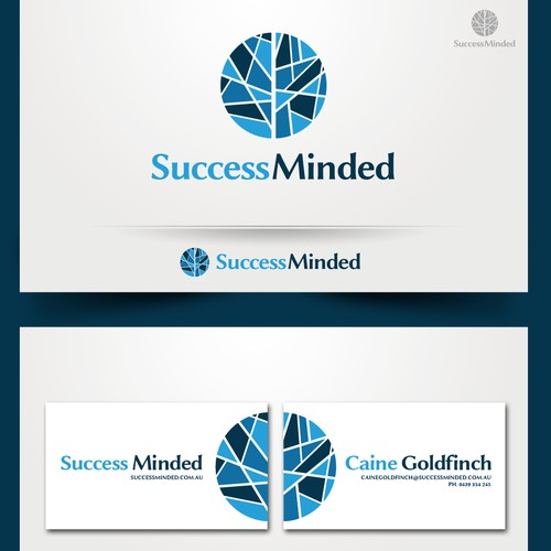 logo and business card for Success Minded