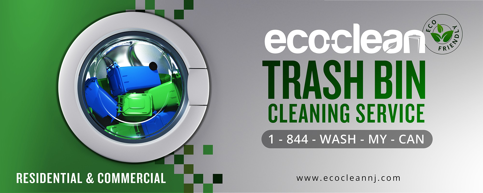 Create a clean, eye-catching truck wrap design for Eco-clean