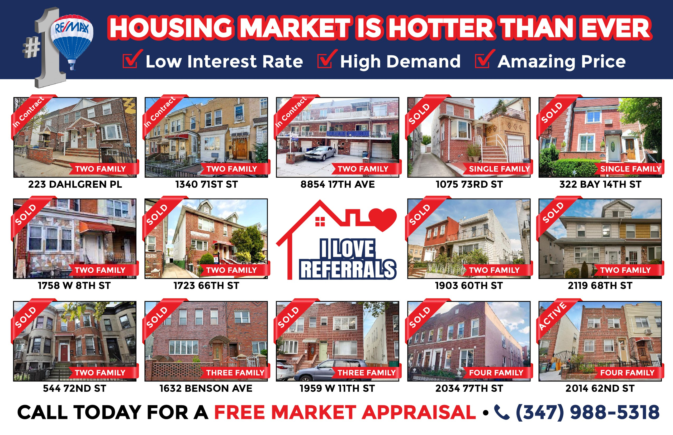 Improving Real Estate Postcard - Just Listed/Under Contract/Just SOLD