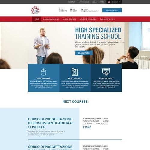 Website Design for a Training School