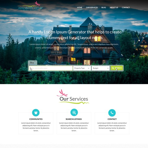 Discovery Ridge Webpage Design