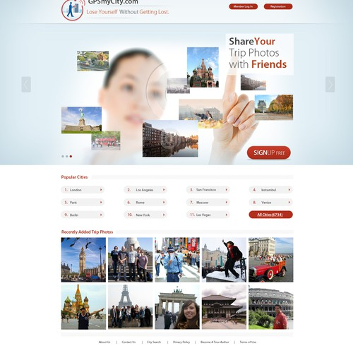 Guaranteed - Travel Photo Sharing WebSite - Wireframes Provided