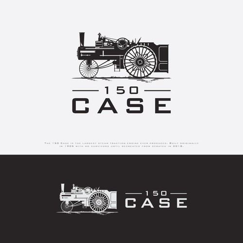 ogo design for the largest steam engine ever produced the 150 Case