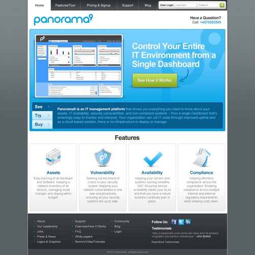 Help Panorama9 redesign there website
