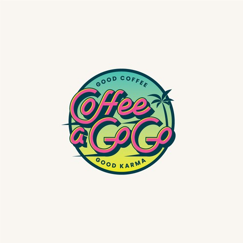 Retro Lettering Logo for Coffee Truck
