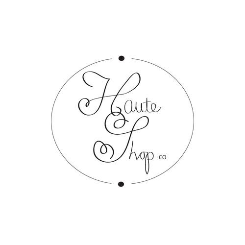 Logo design for Haute Shop clothing business