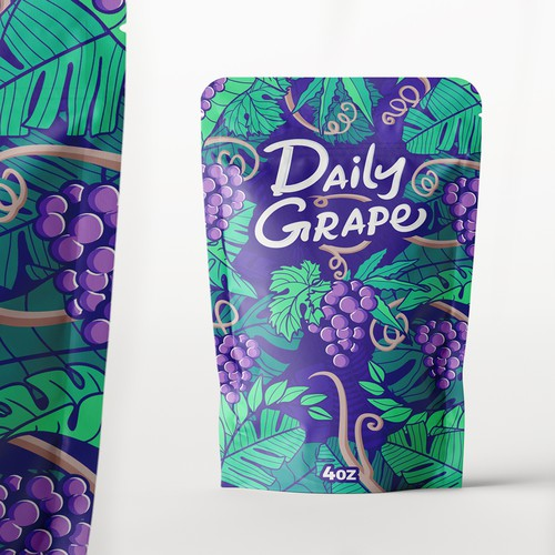 Daily Grape Mylar bag
