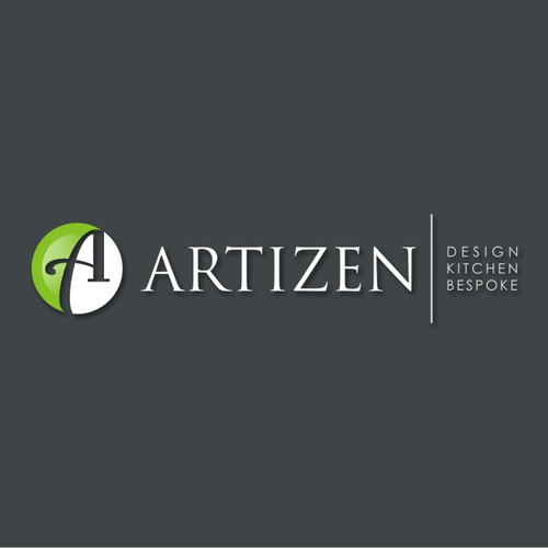 Logo design for Artizen, cabinet making and design