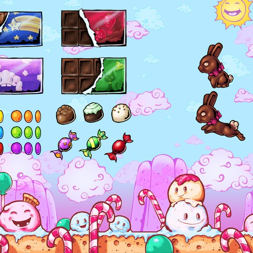 Art Needed for Side-Jumping Candy-Themed iOS Game.
