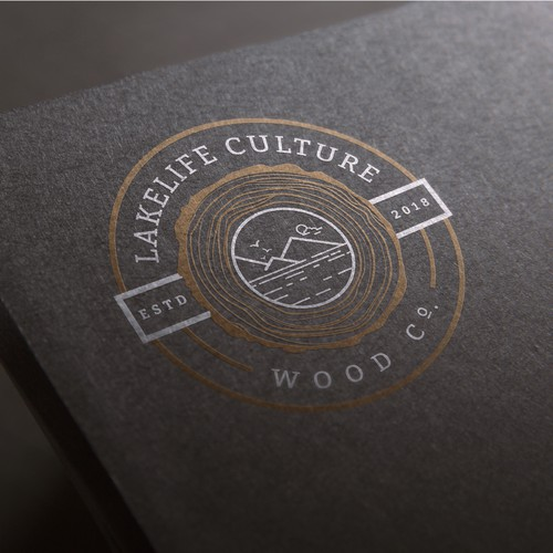Sophisticated logo for Lakelife Culture Woodworking.