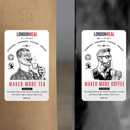 Tea&Coffee line, labels design