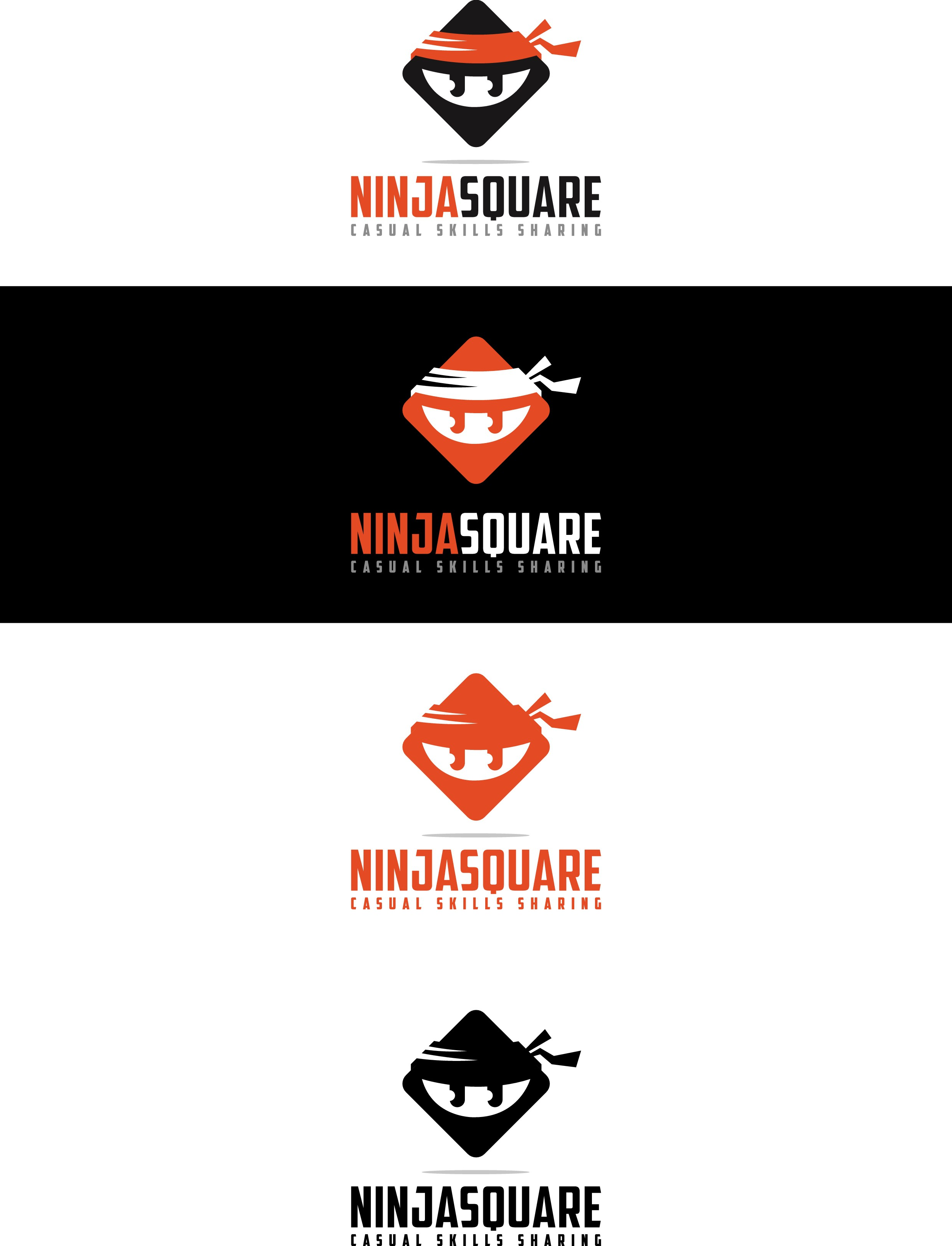 Create a Logo for a casual skills exchange app called NinjaSquare