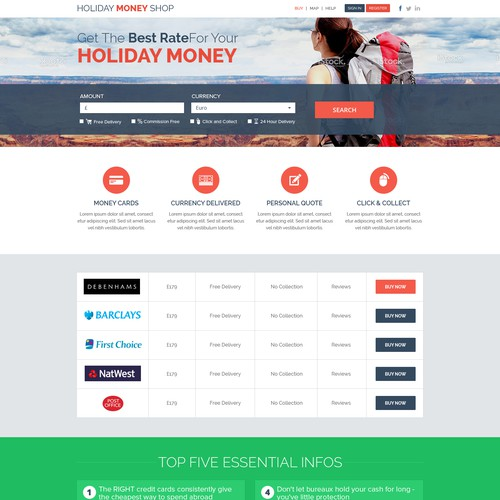 Travel Money comparison Site