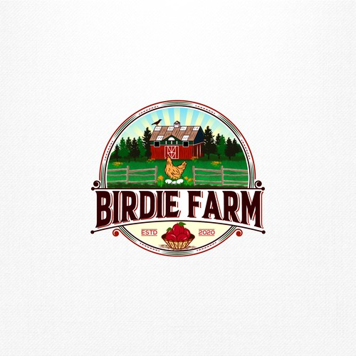 Inspired typography logo for a 'farm to fork' regenerative farm and lifestyle brand