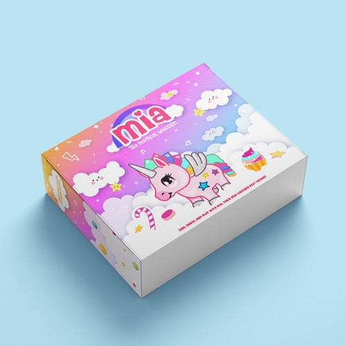 Mia the magical unicorn toy packaging
